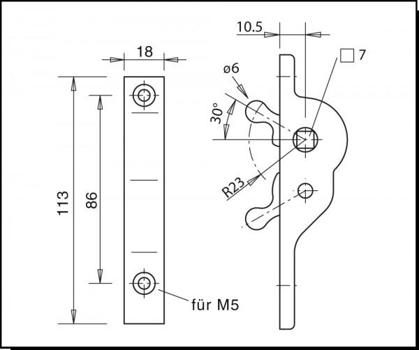 Steckschlüssel-Betätigung