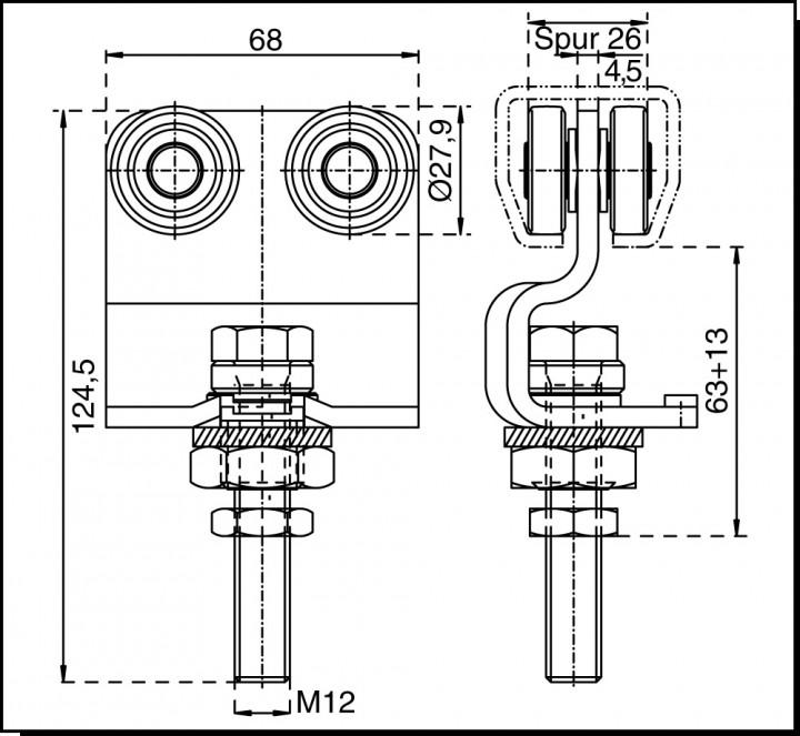 rollapparat 386 rollapparate stopper system fh 300 falt harmonika t rbeschl ge. Black Bedroom Furniture Sets. Home Design Ideas